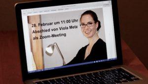 Gottesdienst und Abschied von Viola Metz